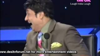AMITABH BACHCHAN PUNISHED BY SANJAY DUTT IN KBC........SANKET BHOSLE.. LAUGH INDIA LAUGH