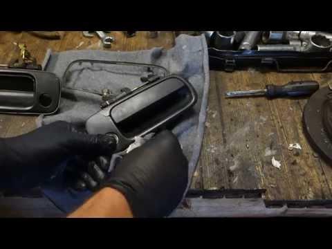 How to repair broken door handle Toyota Corolla. Years 1990-2002
