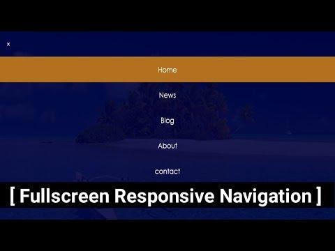 Responsive Navigation Bar with HTML, CSS and javascript - Responsive Menu Bar Tutorial