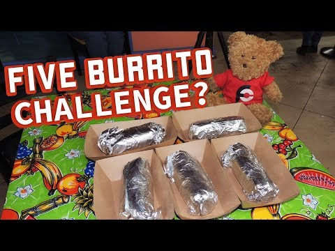 Punisher Burrito Challenge in Kentucky!! (5 Big Burritos)