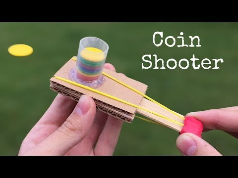 How to Make a Coin Gun Using Cardboard and Popsicle Sticks