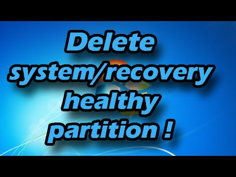 How to delete a healthy/recovery/system/reserved partition