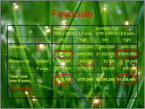 Cost for Synthetic Turf
