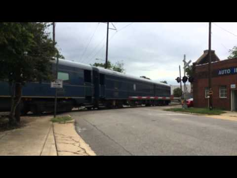 CSX track geometry inspection train in Raleigh, NC