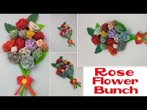 DIY Rose Flower Bunch For Greeting Cards Handmade Birthday Cards,Wedding Bouquet