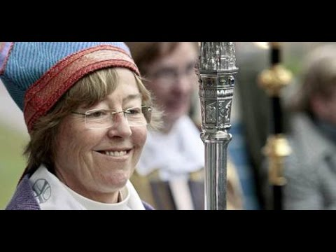 Swedish Lesbian Bishop (Eva Brunne) Rejects the Cross and Points to Mecca