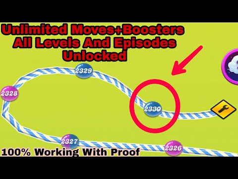 How To Unlock All Levels And Episodes In Candy Crush Saga & Get Unlimited Boosters And Free Switches