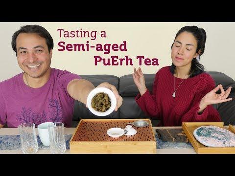 Tasting a Semi-Aged PuErh Tea
