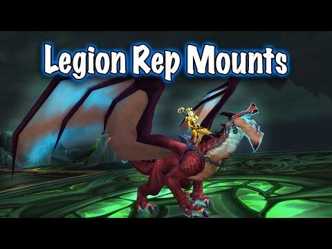 7.2 Legion Reputation Mounts (World of Warcraft)