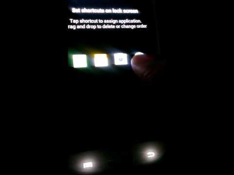 Galaxy S3 how to change lock screen short cuts.