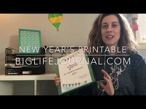 Big Life Journal New Year's Printables Review