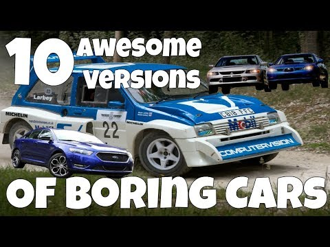 Top 10 Awesome Versions Of Boring Cars