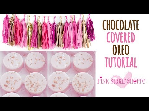 CHOCOLATE COVERED OREO TUTORIAL WITH MOLD