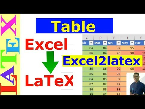 Latex Tables from Excel Data (Excel2Latex)