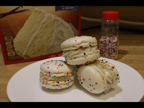[RECIPE] Birthday Cake/ Cake Batter Macarons // AlohaChefCho