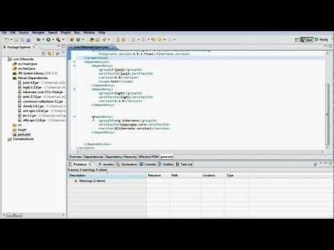 Include Spring, Hibernate,SQL,Log4J in Eclipse using Maven