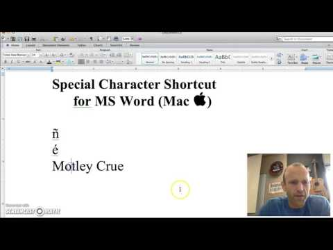 MS Word Special Character Shortcut for Mac