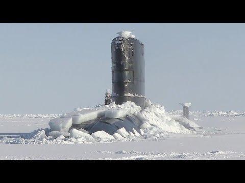 Royal Navy Nuke Sub HMS Trenchant Bursts Through Ice Layer At The North Pole