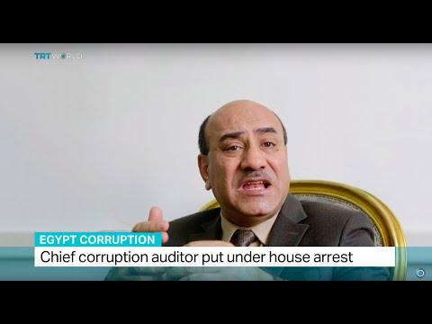 Chief corruption auditor put under house arrest in Egypt