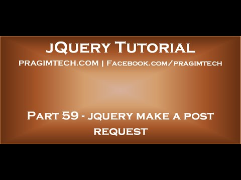 jquery make a post request