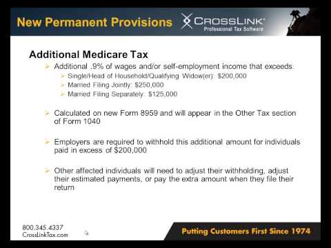 Federal Tax Law Updates for Tax Year 2013