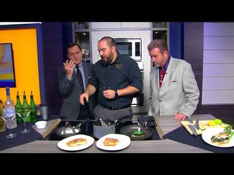Bonefish Grill's Norwegian Salmon with Jumbo Lump Crab Meat