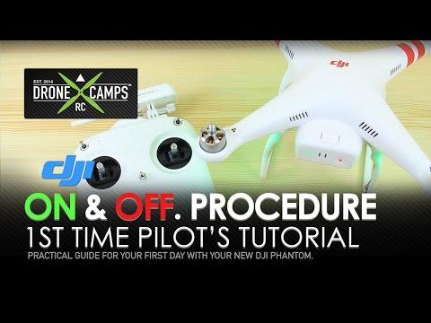 DJI Phantom 2 ON and OFF - The Proper Procedure