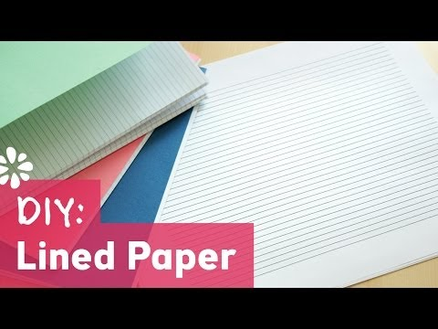 DIY Lined Paper for Bookbinding | Sea Lemon