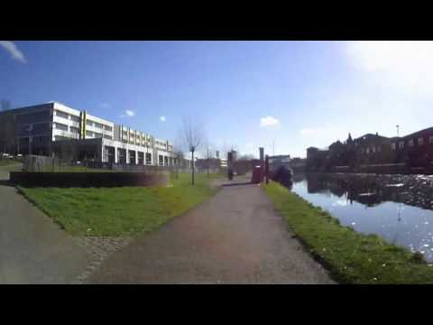 River Lea by Cyclotricity Electric Bicycle. Speeded up!