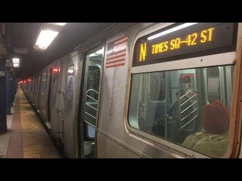 BMT Broadway Line: (N) (Q) (R) Local Trains @ 8th Street-NYU (R46, R160)