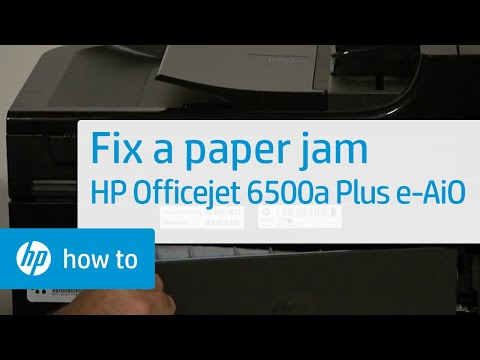 Fixing a Paper Jam - HP Officejet 6500a Plus e-All-in-One Printer (E710n)