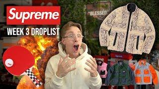 MY FAVORITE SUPREME ITEM IS DROPPING THIS WEEK! Supreme Week 3 Droplist Preview