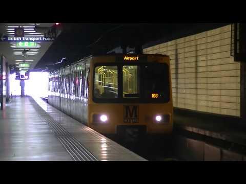 Tyne and Wear Metro-Metrocars 4004 and 4060 departing Sunderland