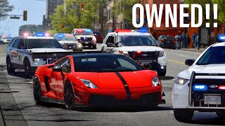 COPS MESSING WITH THE WRONG LAMBORGHINI DRIVER!! *COMPILATION*