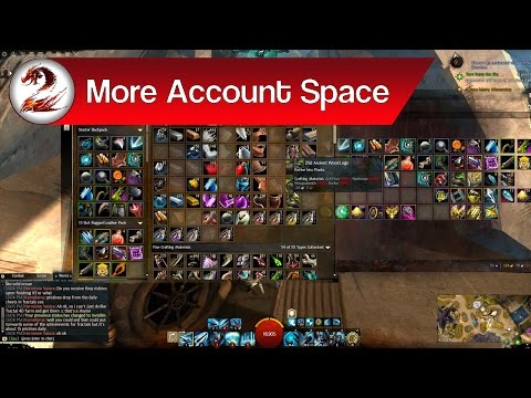 Guild Wars 2: How to Get More Space in GW2, Increase Account Space │ More Bag Space, More Bank Space