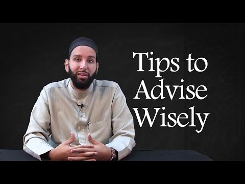 Loving Advice Vs Judgmental Advice - Imam Omar Suleiman