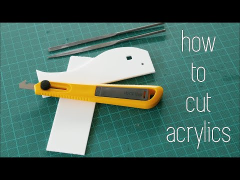 Architecture Modelmaking 101 - How to Cut Acrylics
