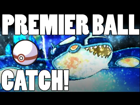 Premier Ball KYOGRE Catch! Primal Kyogre Caught in Pokeball! Alpha Sapphire