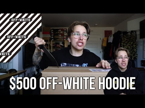 I BOUGHT A $500 OFF-WHITE HOODIE FOR 50% OFF + TRYING TO COP YEEZYS