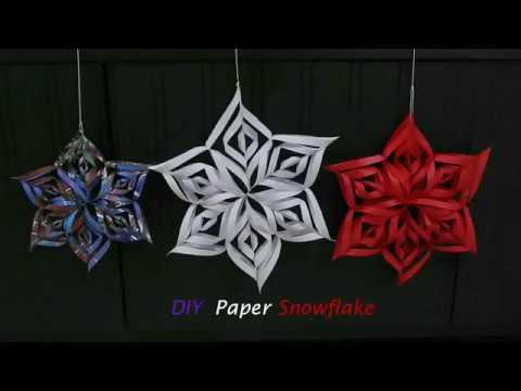 3D Snowflake for Christmas Decoration  (DIY Tutorial)