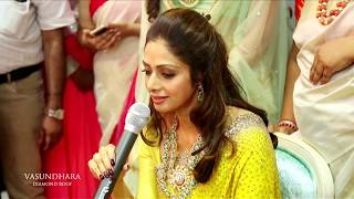 Actress Sridevi at the launch of Vasundhara Diamond Roof in Vijayawada