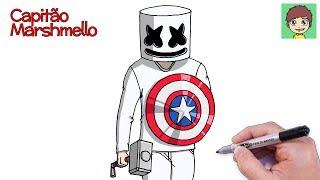Como Desenhar O Marshmello Passo A Passo Facil Desenho
