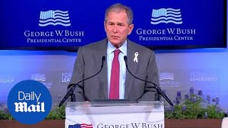 George W. Bush opens up on the death of his mother Barbara - Daily Mail