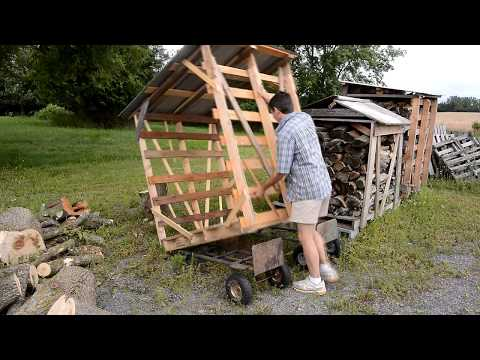 Movable firewood shed