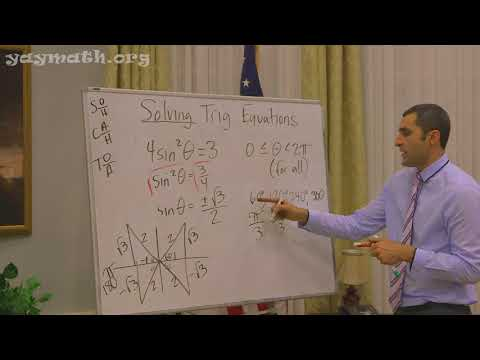 Trigonometry – Solving Trigonometric Equations