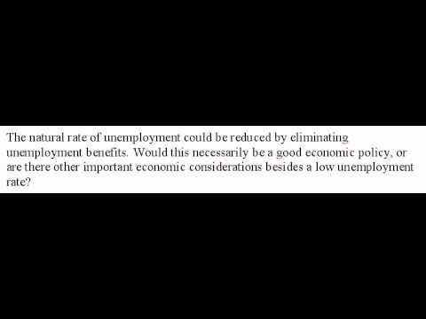 Natural Unemployment and Unemployment Benefits