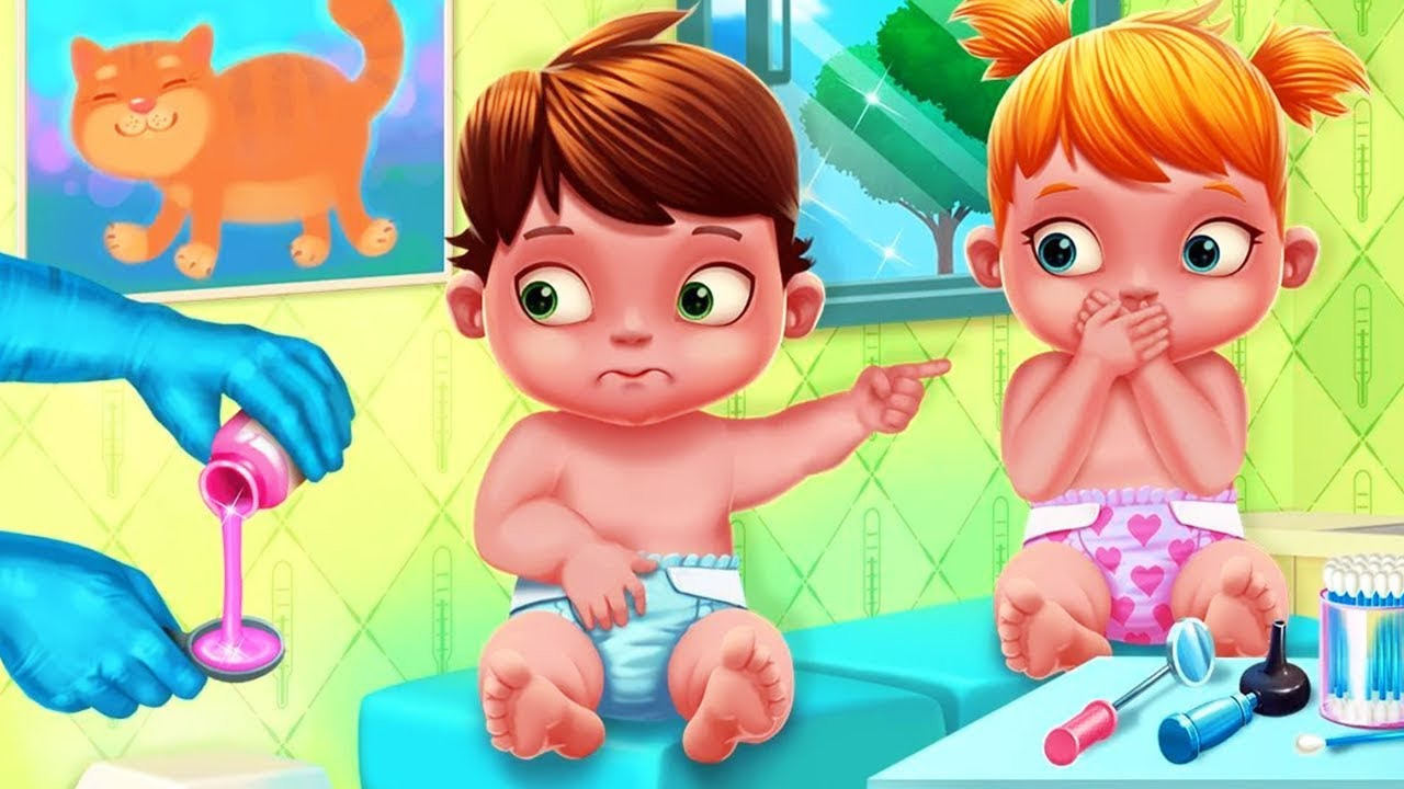 Fun Care Kids Games - Baby Twins Adorable Two - Play And Learn How To Take Care Of Babies