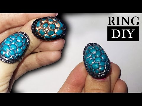 DIY! How to make Tortoise Shell Ring - Polymer Clay Tutorial