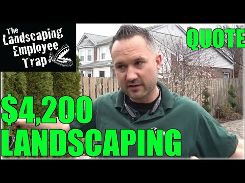 $4,200 Property Walk with Details - How Much to Charge For Landscaping Pricing