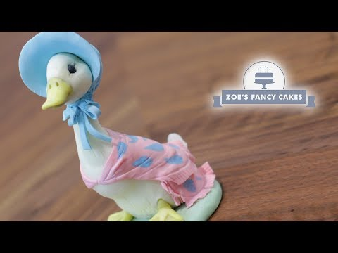 Jemima Puddle Duck cake topper tutorial Beatrix Potter